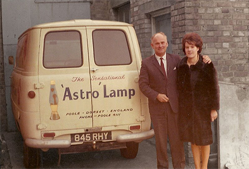 Mathmos Lava Lamps Founder Edward Craven Walker and his wife, Christine.