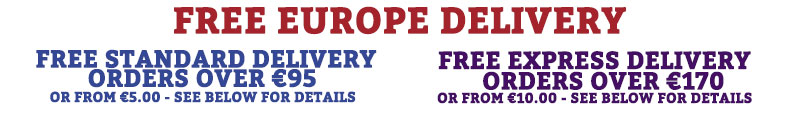 Free Europe Delivery at Atom Retro