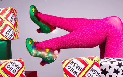 Irregular Choice Grinch Shoes, Boots & Bags Collection