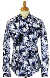Caliban 1 LIKE NO OTHER 60s Geometric Floral Shirt