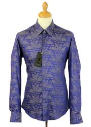 Polonius Jacquard 1 LIKE NO OTHER Mod Floral Shirt