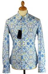 Acanthus 1 LIKE NO OTHER Retro Mod Floral Shirt