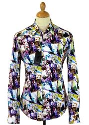 Gargrave 1 LIKE NO OTHER Floral Geometric Shirt