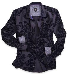 Decameron 1 LIKE NO OTHER Mod Baroque Floral Shirt