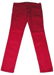 Retro Indie Vintage Red Drainpipe Jeans Mod 60s