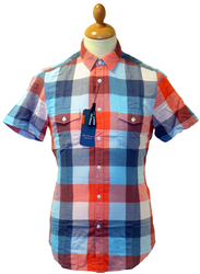 BEN SHERMAN RETRO SIXTIES BOLD CHECK SHIRT MOD