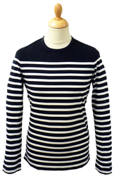 BEN SHERMAN RETRO MOD SIXTIES BRETON T-SHIRT 60s