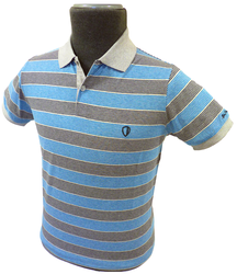BEN SHERMAN MULTI STRIPE RETRO MOD POLO