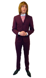 BEN SHERMAN SUIT RETRO MOD SUIT SIXTIES SUIT PLUM