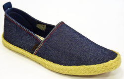 BEN SHERMAN PRIL DENIM RETRO MOD ESPADRILLES SHOES