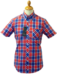 BEN SHERMAN RETRO MOD SIXTIES WINDOW CHECK SHIRT