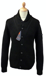 BEN SHERMAN RETRO MOD SHAWL COLLAR CARDIGAN