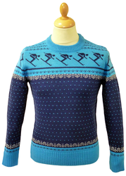 RETRO CHRISTMAS JUMPERS RETRO SKI JUMPER SWEATER