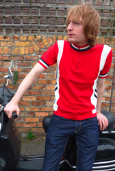 MADCAP ENGLAND MOD RETRO CYCLING TOP HI WHEEL MODS