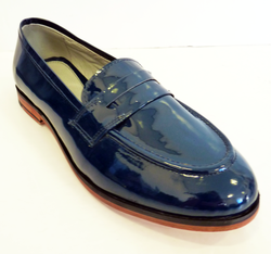 LACEYS RETRO WOMENS LOAFERS HOLGA PATENT SHOES