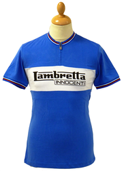 LAMBRETTA RETRO MOD SIXTIES CYCLING TOP ZIP TSHIRT
