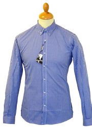 LAMBRETTA RETRO MIXED GINGHAM SHIRT DOUBLE COLLAR