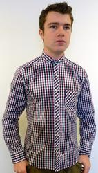 LAMBRETTA MOD RETRO MENS SHORT COLLAR SHIRT RETRO