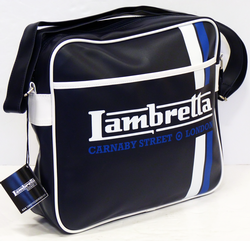 LAMBRETTA RETRO MOD RACING STRIPE SHOULDER BAG