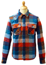 LUKE 1977 RETRO MOD BEARING SHIRT CHECK RETRO 70s