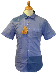 LUKE 1977 CHEMICAL GINGHAM SHIRT INDIE MOD SHIRT