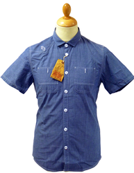 LUKE 1977 SPRAY RETRO SEVENTIES CHAMBRAY SHIRT