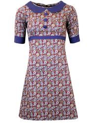 MADCAP ENGLAND RETRO 60s MOD PAISLEY DRESS