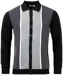MADCAP ENGLAND PINSTRIPE MARRIOTT POLO BLACK MOD