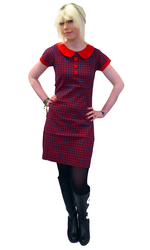 Dollierocker Retro Mod Dress Navy Red