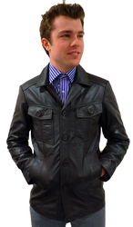 West One Retro Mod Leather Jacket (Brown)