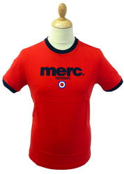 MERC LONDON RETRO T-SHIRT MOD BEACH T-SHIRT TEE
