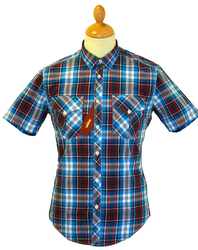 MERC RETRO MOD SEVENTIES CHECK SHIRT GRAHAM SHIRT