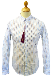 MERC RETRO MOD SIXTIES INDIE SHIRT POLKA DOT RETRO