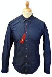MERC RETRO MOD SIXTIES SHIRT DENIM CHAMBRAY SHIRT