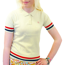 MERC WOMENS POLO FREDA KNITTED POLO MOD SIXTIES