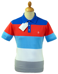 ORIGINAL PENGUIN RETRO FIFTIES STRIPED BLOCK POLO