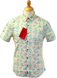 ORIGINAL PENGUIN RETRO MOD SEVENTIES FLORAL SHIRT