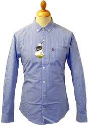 ORIGINAL PENGUIN GINGHAM SHIRT RETRO MOD SHIRTS