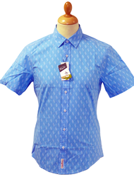 ORIGINAL PENGUIN RETRO MOD SEVENTIES SHIRT RAZOR