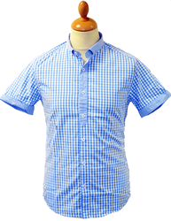 PETER WERTH RETRO MOD GINGHAM SHIRT MOONFISH 60s