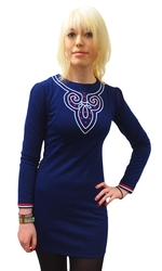 1965 Retro Sixties Mod Dress in Navy