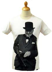 REALM AND EMPIRE WINSTON CHURCHILL T-SHIRT RETRO