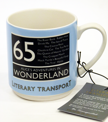 RETRO ALICE IN WONDERLAND LITERARY TRANSPORT MUG