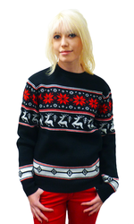 RETRO CHRISTMAS JUMPER RETRO REINDEER XMAS SWEATER