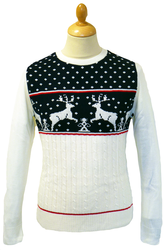 RETRO CHRISTMAS REINDEER JUMPER RETRO XMAS SWEATER