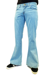 Riot City Blues Retro Denim Hipster Flares