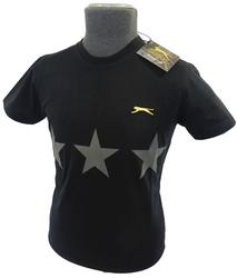 SLAZENGER HERITAGE GOLD THREE STAR TSHIRT RETRO