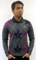 SLAZENGER HERITAGE GOLD RETRO ARGYLE GOLF JUMPER