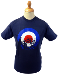 STOMP BOYS IN BLUE MOD TARGET T-SHIRT RETRO MODS