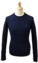 STRENGTH AND HONOUR RETRO RIBBED JUMPER ARMY INDIE